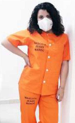 Pijama naranja MC